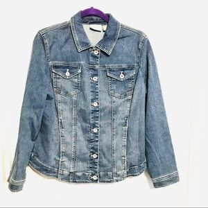 Chico's perfect stretch jean jacket